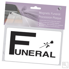 Magnetic Funeral Plaque